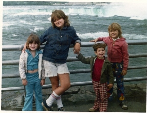 Me at about 12 with my sisters and brother
